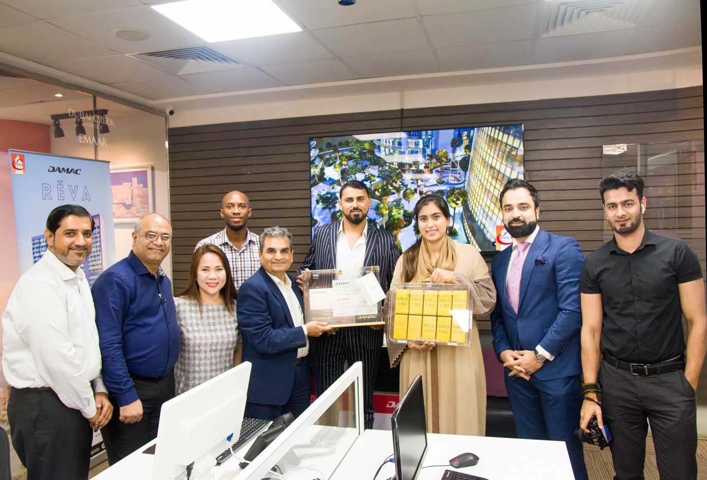 main image DAMAC Visit Indus JLT Office With Amira Sajwani