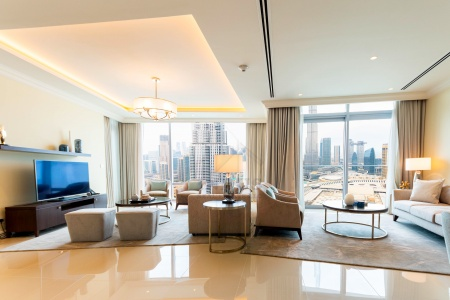 Burj and Fountain View|3BR+M Address Fountain T1
