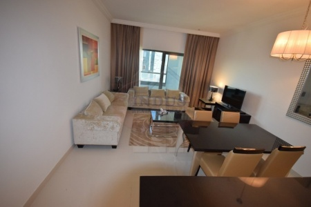 Fully Furnished 1BR | Burj Khalifa View | AED 68K