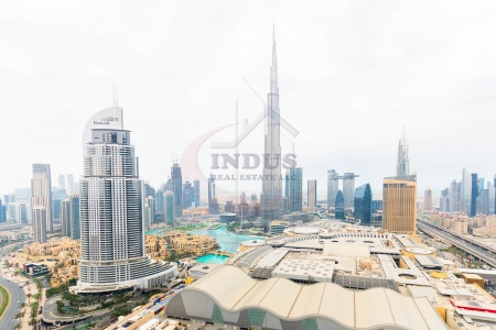 Luxury|Burj and Fountain View|3BR+M| Serviced Apt