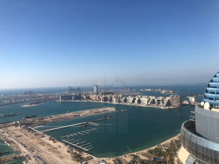 On High Floor 2BR w/Palm Jumeirah View!