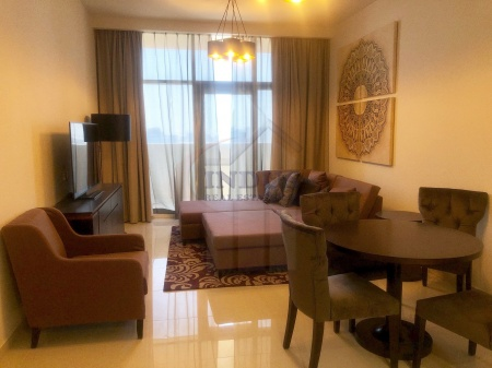 On High Floor! Fully Furnished 2BR with Balcony